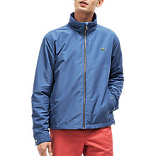 Buy Lacoste Zip Through Hooded Jacket, Bright Blue Online at johnlewis.com
