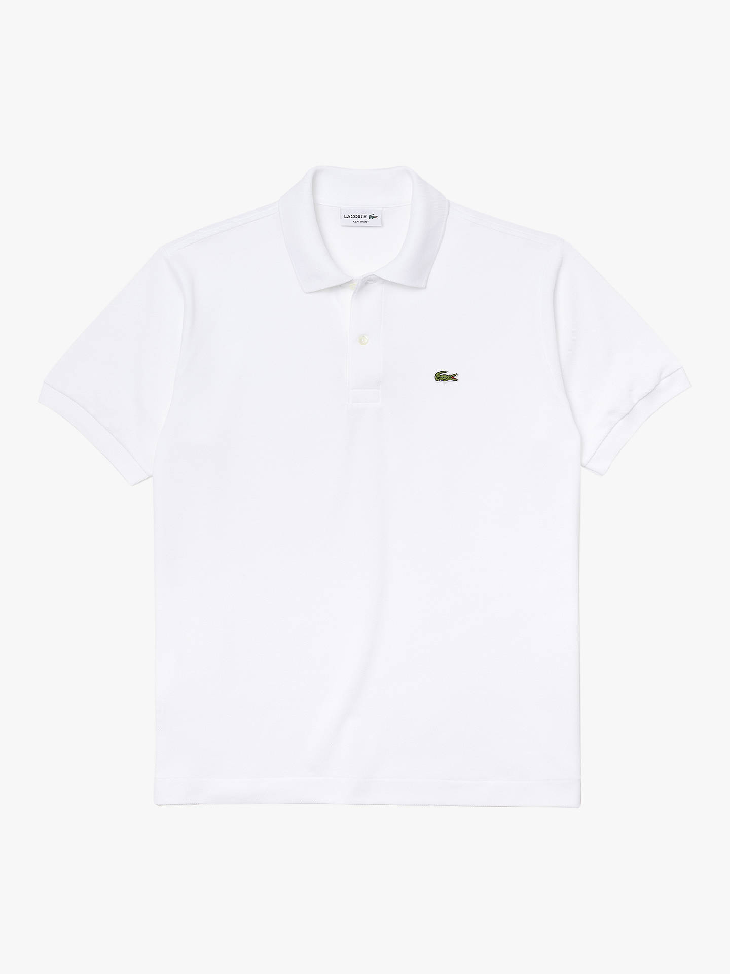 2c9a69958f Lacoste L.12.12 Classic Regular Fit Short Sleeve Polo Shirt, White
