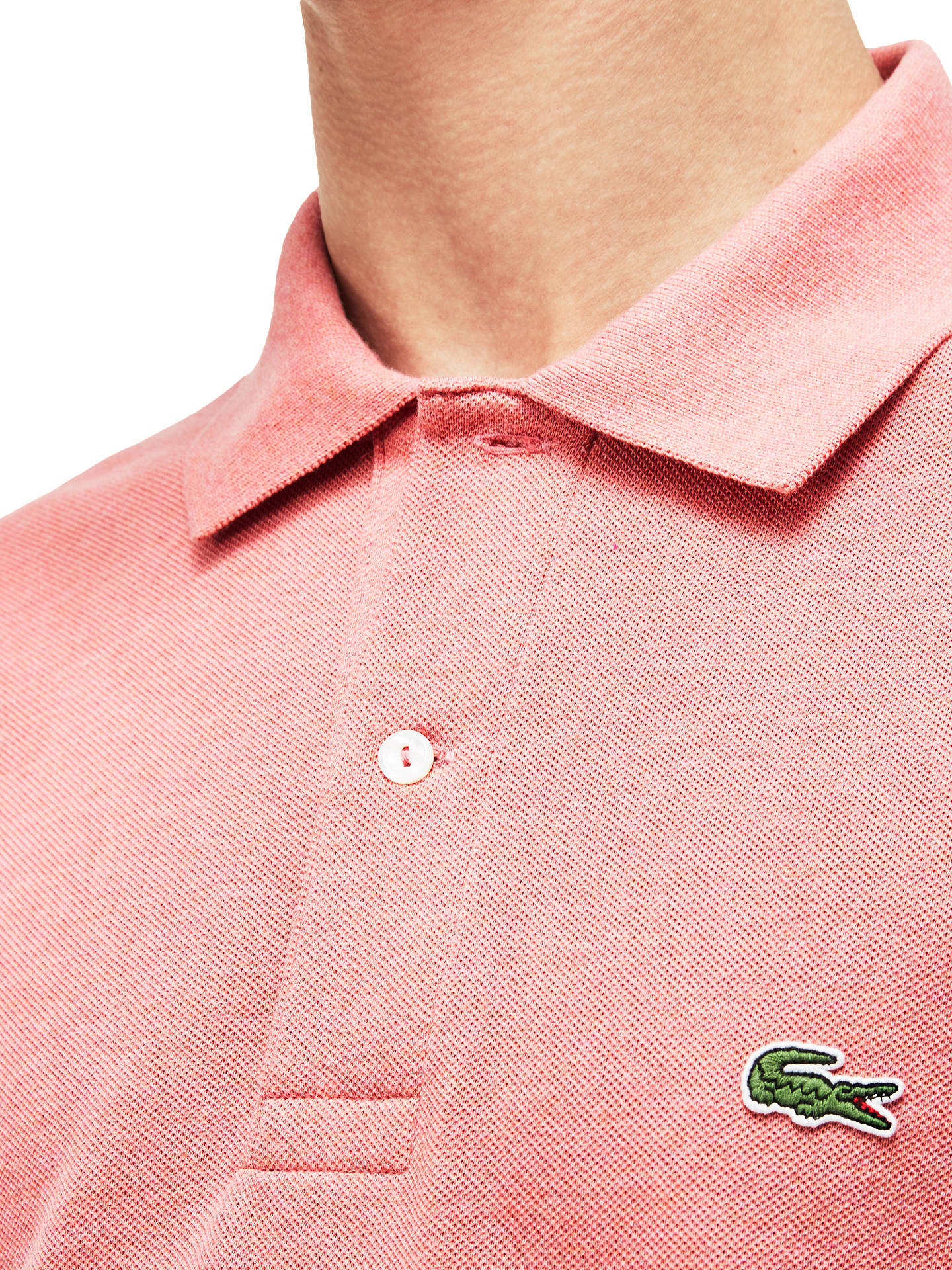 3e731759 ... Buy Lacoste L.12.12 Classic Regular Fit Marl Short Sleeve Polo Shirt,  Pink Marl