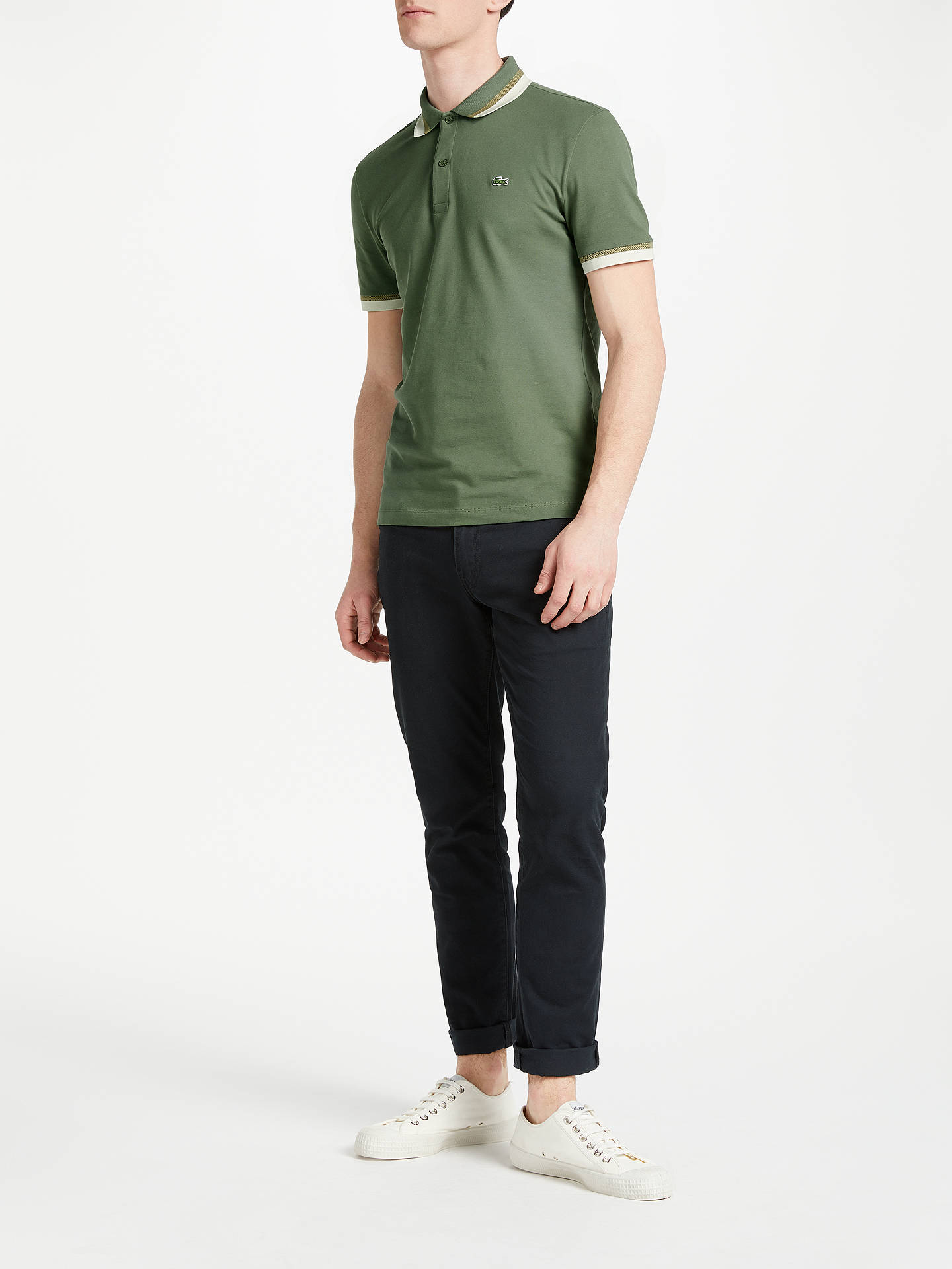 a42b8ba70310b4 Lacoste Slim Fit Twin Tipped Short Sleeve Polo Shirt at John Lewis ...