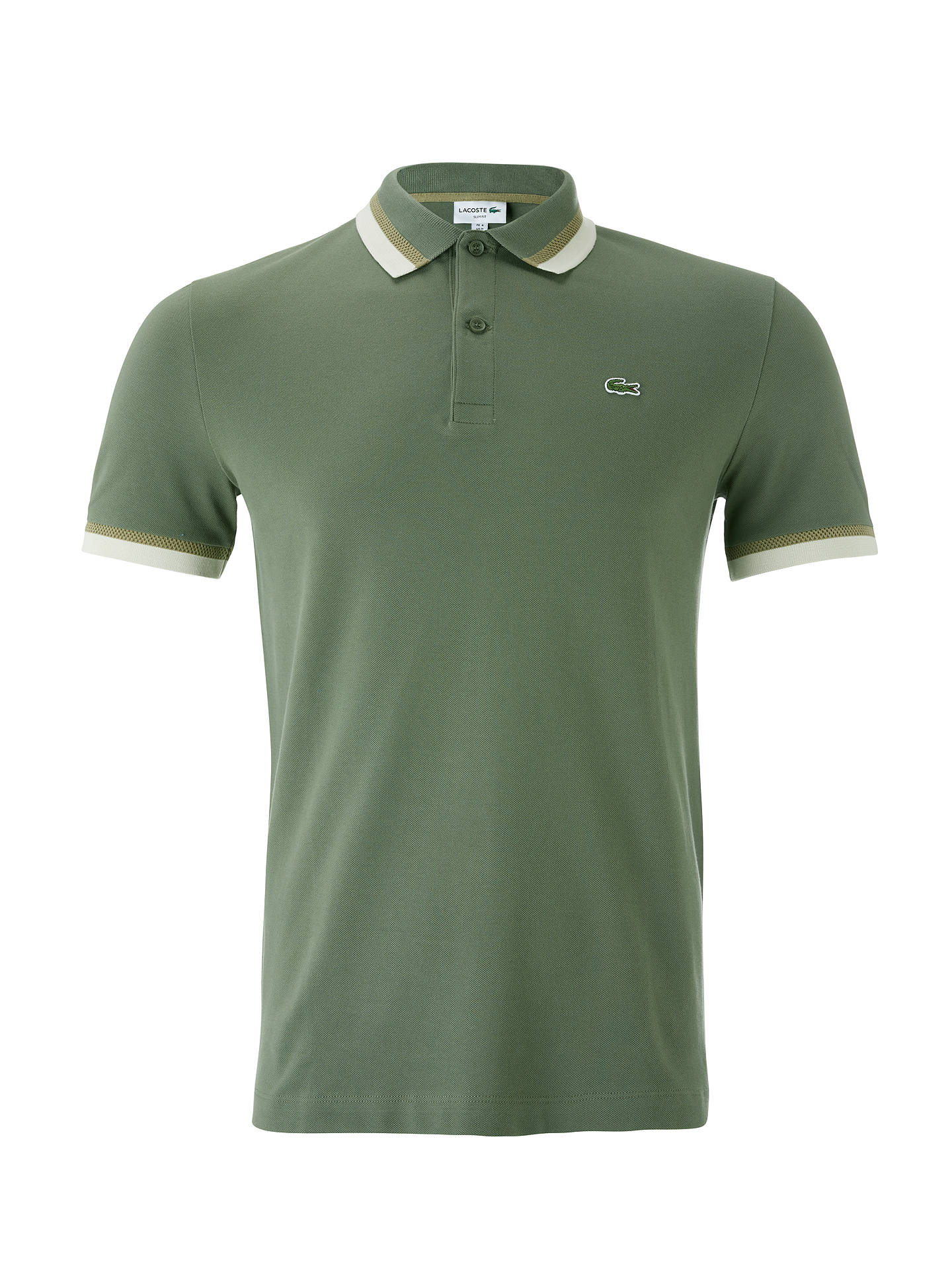 c2173f0b ... Buy Lacoste Slim Fit Twin Tipped Short Sleeve Polo Shirt, Green, S  Online at ...