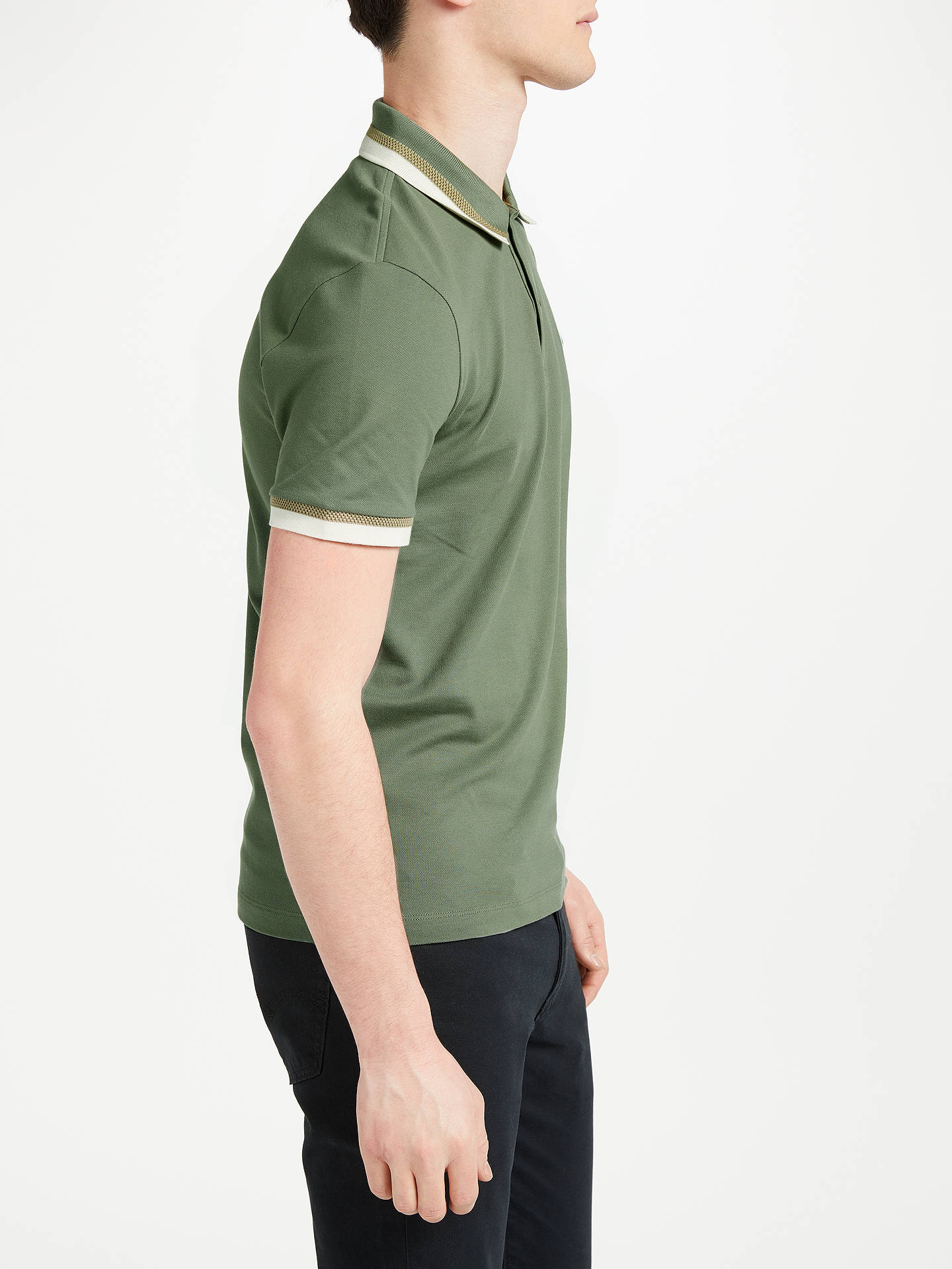 74994304 ... Buy Lacoste Slim Fit Twin Tipped Short Sleeve Polo Shirt, Green, S  Online at