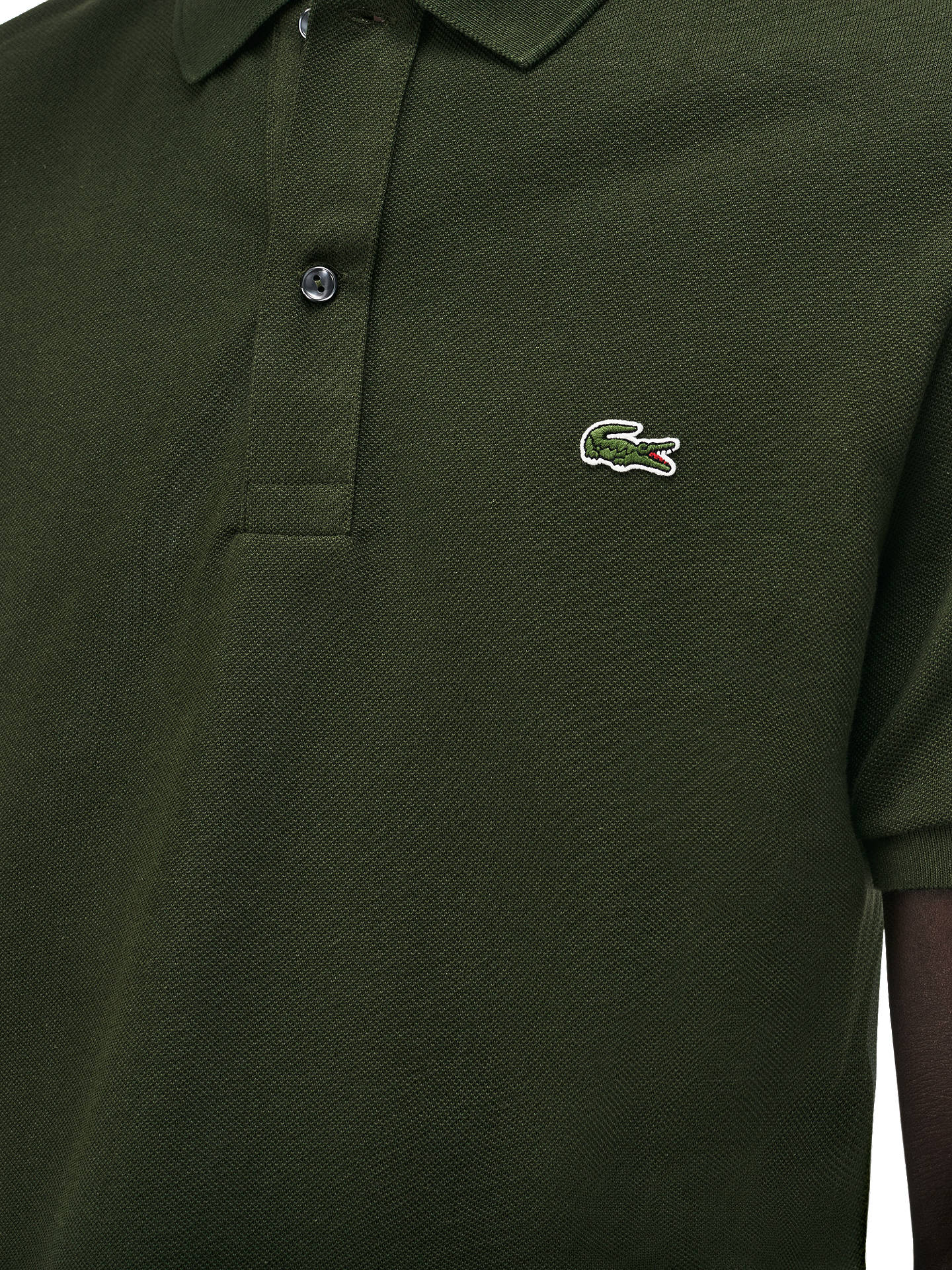 0b7195f0 ... Buy Lacoste Classic Slim Fit Short Sleeve Polo Shirt, Army Green, S  Online at