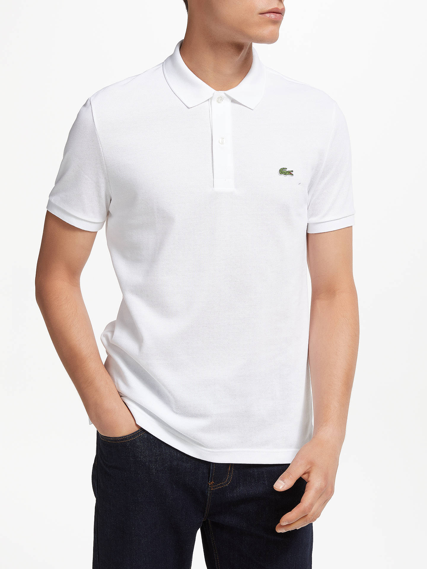 Lacoste Classic Slim Fit Short Sleeve Polo Shirt at John Lewis ... e0ba0b137
