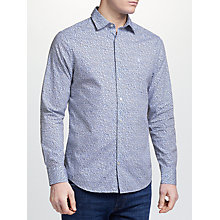 Buy GANT Hazy Flowers Long Sleeve Shirt, Pale Blue Online at johnlewis.com