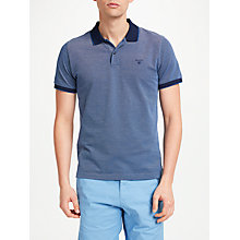 Buy GANT Textured Pique Pima Cotton Polo Shirt Online at johnlewis.com