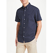 Buy Gant Micro Stripe Diamond Short Sleeve Shirt, Navy Online at johnlewis.com
