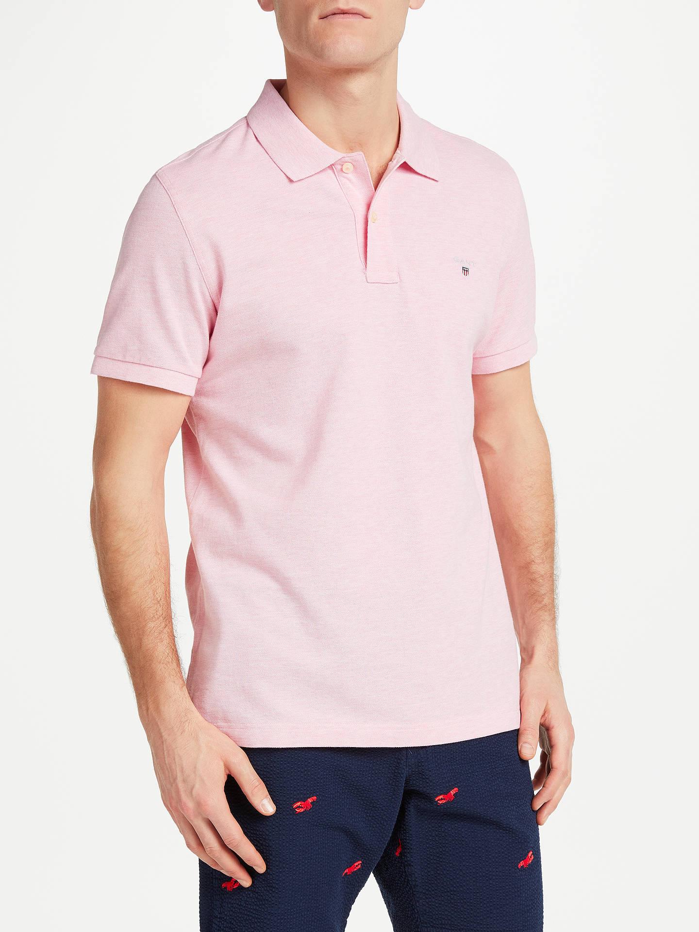 446e1caa0f77f6 Buy GANT Original Pique Polo Shirt, Light Pink, S Online at johnlewis.com  ...
