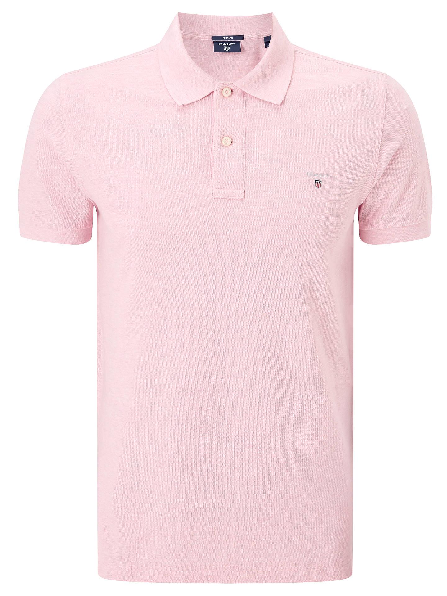 76edd1861daf0e ... Buy GANT Original Pique Polo Shirt, Light Pink, S Online at  johnlewis.com ...