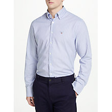 Buy GANT Tech Prep Long Sleeve Stripe Shirt, Soft Violet Online at johnlewis.com