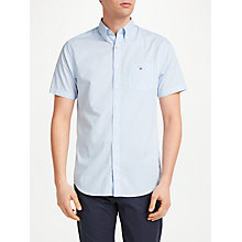Buy Gant Poplin Short Sleeve Banker Stripe Shirt Online at johnlewis.com