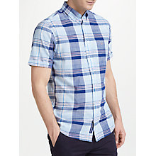 Buy GANT Pack Short Sleeve Sleeve Check, Pale Blue Online at johnlewis.com