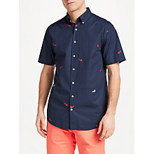Buy Gant Lobster Print Short Sleeve Shirt. Navy Online at johnlewis.com