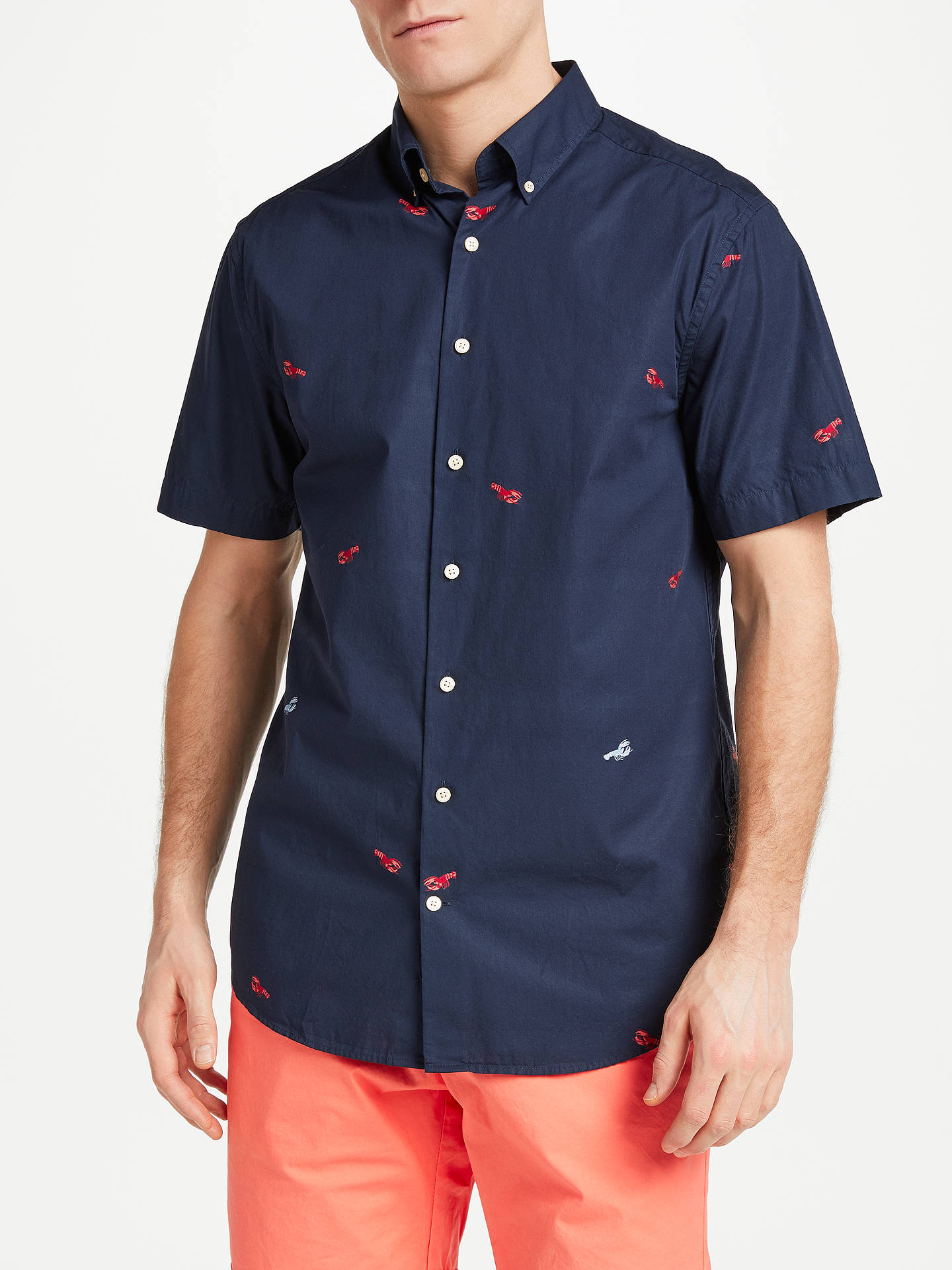 Love Lobster Mens Short Sleeve Polo Shirt Classic-Fit Blouse Sportswear