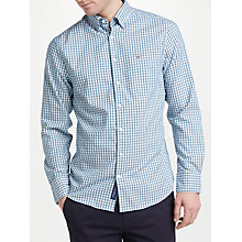 Buy GANT Long Sleeve Gingham Oxford Shirt, Emerald Green Online at johnlewis.com
