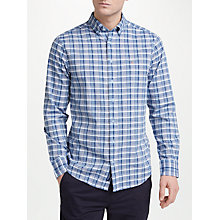 Buy GANT Long Sleeve Check Shirt, Pale Blue Online at johnlewis.com