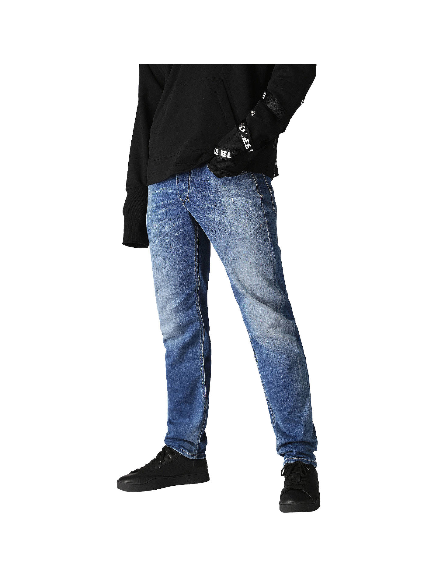 c4ed57e1 Buy Diesel Larkee-Beex Tapered Fit Jeans, Blue, 30S Online at johnlewis.