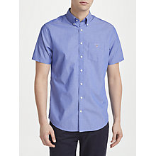 Buy Gant Poplin Short Sleeve Pinstripe Poplin Shirt, Yale Blue Online at johnlewis.com