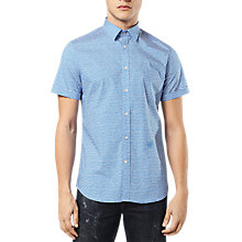 Buy Diesel S-Venety Short Sleeve Printed Shirt, Blue Online at johnlewis.com