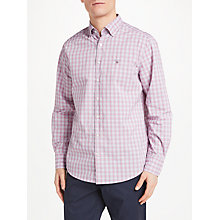 Buy GANT Tech Prep Long Sleeve Check Shirt, Pink Online at johnlewis.com
