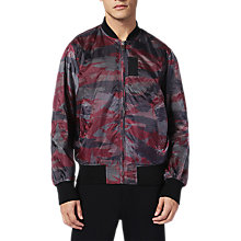 Buy Diesel J-Town Reversible Bomber Jacket, Khaki/Red Online at johnlewis.com