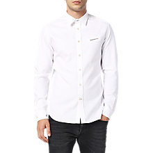 Buy Diesel S-Harris Long Sleeve Shirt, White Online at johnlewis.com