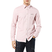 Buy Diesel S-Harras Long Sleeve Shirt, Pink Online at johnlewis.com