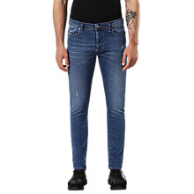 Buy Diesel Tepphar 084QQ Carrot Slim Fit Jeans, Medium Blue Online at johnlewis.com