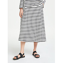 Buy Kin by John Lewis Striped Full Jersey Skirt, Navy/White Online at johnlewis.com