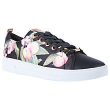 Buy Ted Baker Ahfira Low Top Trainers, Black/Multi Online at johnlewis.com