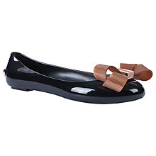 Buy Ted Baker Larimar Bow Flat Pumps, Black Online at johnlewis.com