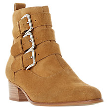 Buy Dune Polo Buckle Western Ankle Boots Online at johnlewis.com
