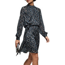 Buy Reiss Aubrie Snake Print Burnout Dress, Multi Online at johnlewis.com