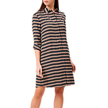 Buy Hobbs Marci Abstract Print Shirt Dress, Black/Multi Online at johnlewis.com