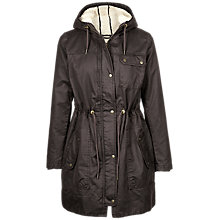 Buy Fat Face Dorset Jacket, Chocolate Online at johnlewis.com