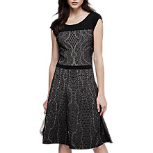 Buy Reiss Odealia Jacquard Insert Dress, Black/Multi Online at johnlewis.com