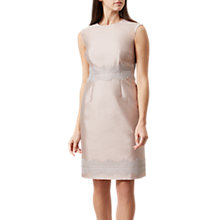 Buy Hobbs Fran Lace Detail Dress, Oyster Online at johnlewis.com