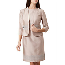 Buy Hobbs Fran Lace Detail Jacket, Oyster Online at johnlewis.com