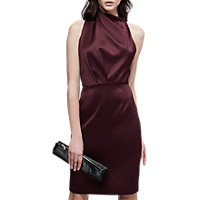 Buy Reiss Rana Halterneck Dress, Wine Online at johnlewis.com