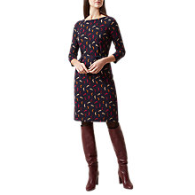 Buy Hobbs Cici Fox Print Shift Dress, Navy/Multi Online at johnlewis.com