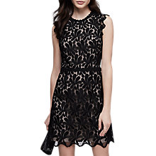 Buy Reiss Sami Open Back Lace Dress, Black Online at johnlewis.com