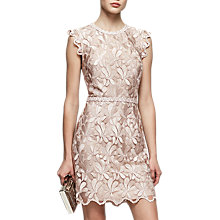 Buy Reiss Sami Sleeveless Lace Dress, Warm Grey Online at johnlewis.com