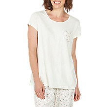 Buy Fat Face Printed Star Pyjama Top, White Online at johnlewis.com