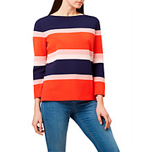 Buy Hobbs Noreen Stripe Jumper, Red/Multi Online at johnlewis.com