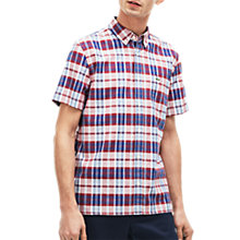 Buy Lacoste Short Sleeve Check Oxford Shirt, Multi Online at johnlewis.com