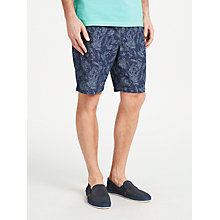 Buy GANT Relaxed Print Shorts, Navy Online at johnlewis.com
