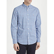 Buy Gant Long Sleeve Poplin Gingham Shirt, Blue Online at johnlewis.com