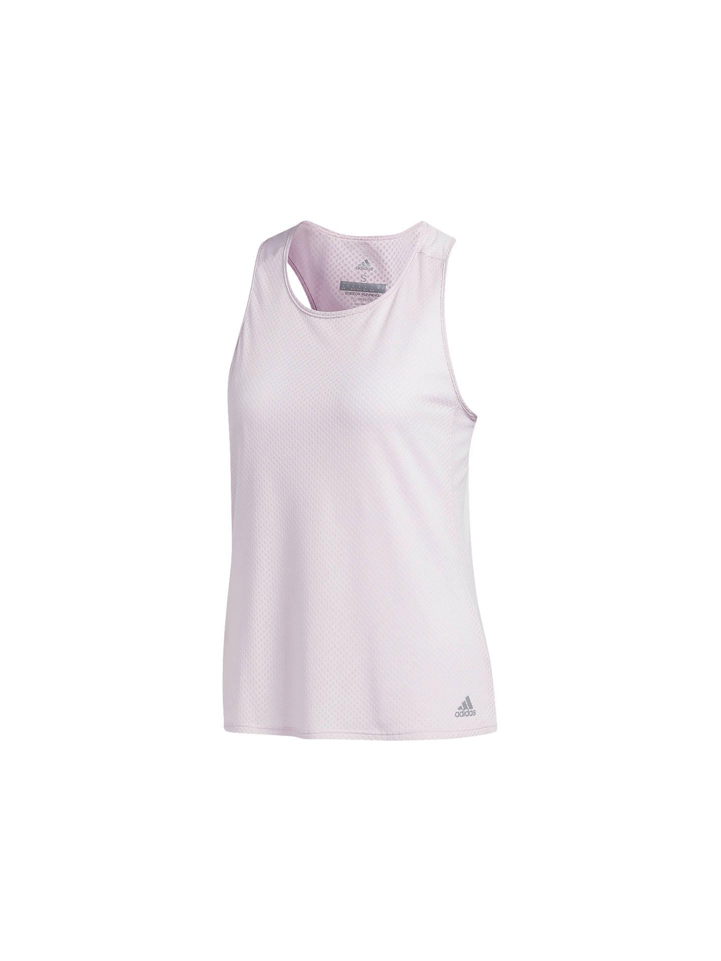 019b5818 Buy adidas Response Running T-Shirt, Aero Pink, XS Online at johnlewis.