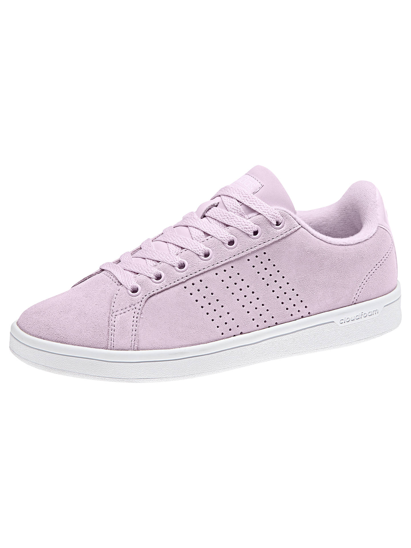 watch 7a360 81da0 Buy adidas Neo Cloudfoam Advantage Women s Trainers, Aero Pink, 4 Online at  johnlewis.