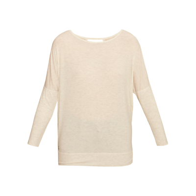 Lolë Elisia Long Sleeve Yoga Top, White Heather